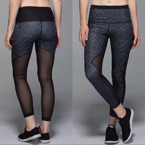 Lululemon Running In The City mesh 7/8 tights